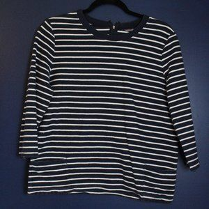 Hasting & Smith Blue & White Strip Sweater